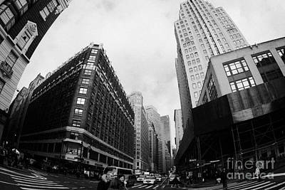 Fisheye View Of The Herald Square Building And Cross Walks Over Broadway New York Print by Joe Fox
