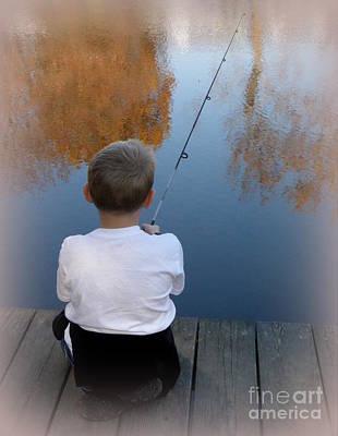 Fishin' Print by Lainie Wrightson