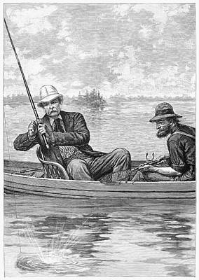 1884 Drawing - Fishing, 1884 by Granger