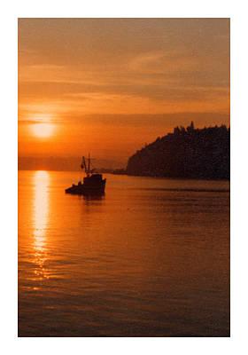 Fishing At Sunset Print by Jack Pumphrey
