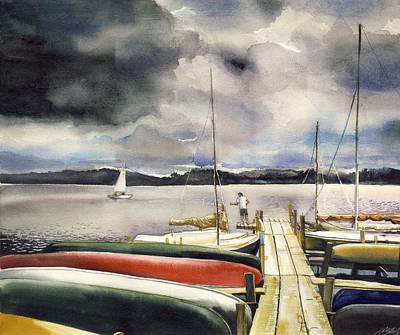Fishing Before It Rains Original by  Alfred Ng
