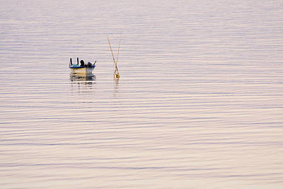 Fish Photograph - Fishing Boat At Dusk by Priya Ghose