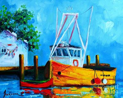 Fishing Boat At Pier 39 Print by Patricia Awapara