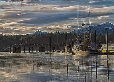 Fishing Boat Christmas Tree Print by Timothy Latta