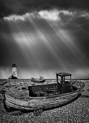 Fishing Boat Graveyard 11 Print by Meirion Matthias