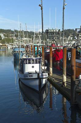 Fishing Boat In Newport Oregon. Print by Gino Rigucci