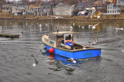 Row Boat Photograph - Fishing Boat - Rockport Ma by Joann Vitali
