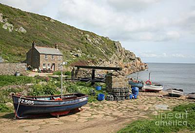 England Photograph - Fishing Boats At Penberth Cove by John Keates