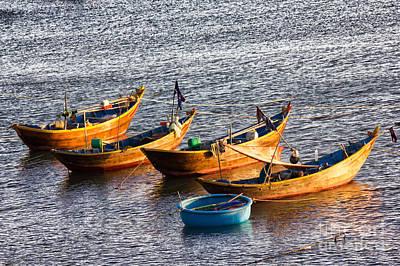 Marsaxlokk Photograph - Fishing Boats by Christos Koudellaris