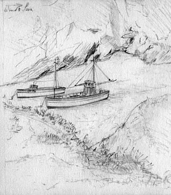 Fishing Boats Cornwall Print by John Chatterley
