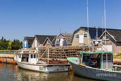 Lobster Traps Photograph - Fishing Boats Docked In Prince Edward Island  by Elena Elisseeva