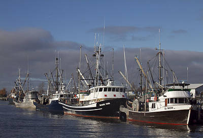 Fishing Boats Print by Elvira Butler