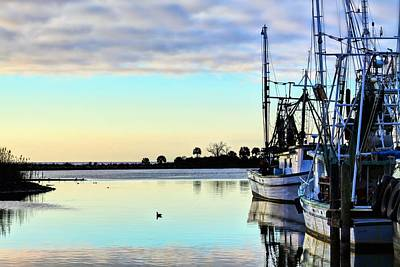 Fishing Boats In Pensacola Print by JC Findley