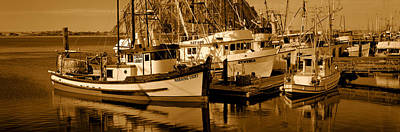 Fishing Boats In The Sea, Morro Bay Print by Panoramic Images