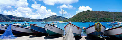 Midday Photograph - Fishing Boats St Thomas Us Virgin by Panoramic Images
