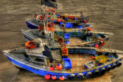 Fishing Boats Print by Svetlana Sewell