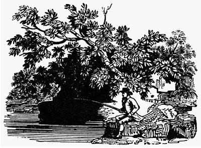 Fishing, C1800 Print by Granger