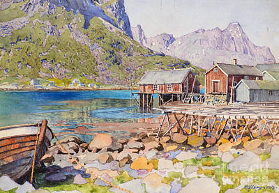 American Eagle Painting - Fishing Docks by Celestial Images