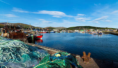 Fishing Harbor, Dingle Harbour, Dingle Print by Panoramic Images