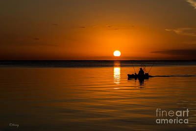 Fishing Into The Night Print by Rene Triay Photography