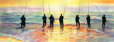 Fishing Line Print by Marguerite Chadwick-Juner