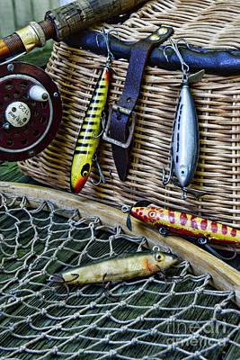 Fishing - Lots Of Gear Print by Paul Ward