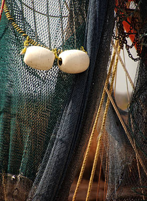 Fishing Net And Floats Print by Greg and Chrystal Mimbs