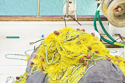 Fishing Net Print by Tom Gowanlock