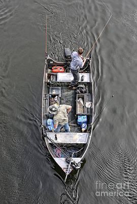 Gone Fishing Photograph - Fishing On A Boat by Lee Dos Santos