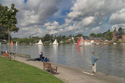 Fishing On Oulton Broad Print by Ralph Muir