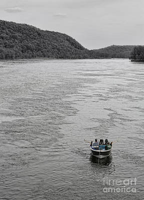 Gone Fishing Photograph - Fishing On The Delaware by Lee Dos Santos