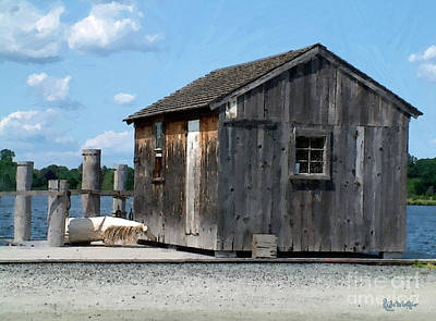 Fishing Shack On The Mystic River Print by RC DeWinter