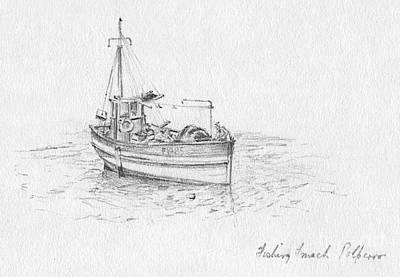 Fishing Smack Polperro Print by John Chatterley