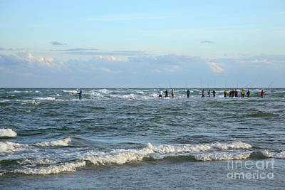 Fishing The Point At Cape Hatteras Print by Suzi Nelson