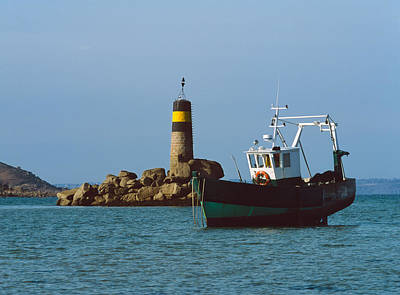 Trawler Photograph - Fishing Trawler In Front by Panoramic Images