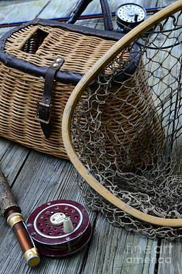 Fishing - Trout Fishing Print by Paul Ward