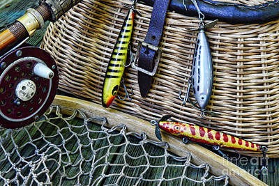 Fishing - Vintage Fishing Lures  Print by Paul Ward