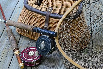 Fishing - Vintage Fishing  Print by Paul Ward