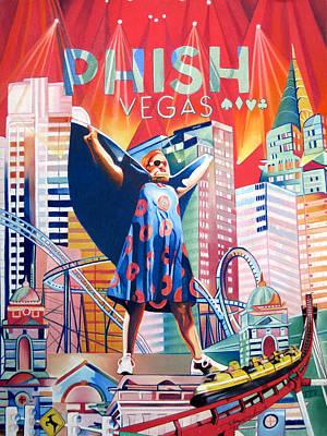 Phish Drawing - Fishman In Vegas by Joshua Morton