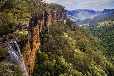 Fitzroy Falls In Kangaroo Valley Australia Print by David Smith