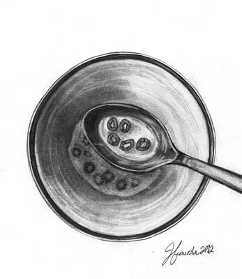 Milk Drawing - Five Golden Rings by J Ferwerda