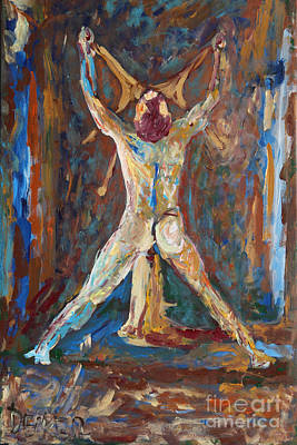Homo Painting - Fixed - Haltestelle - 2504 by Lars  Deike