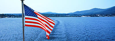 Flag And View From The Minne Ha Ha Print by Panoramic Images