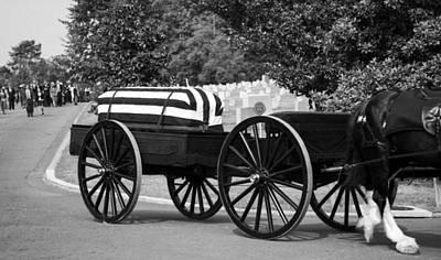 Flag Draped Casket At Arlington Print by Greg Mimbs