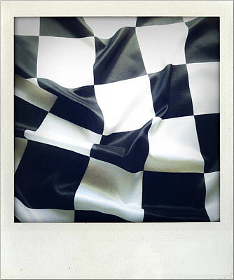 Checkers Photograph - Flag by Les Cunliffe