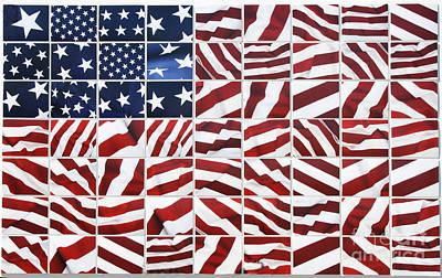 Flag Mosaic Original by Crystal Nederman