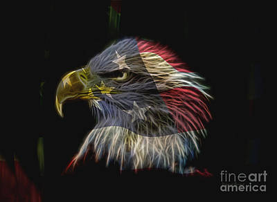 Flag Of Honor Print by Deborah Benoit