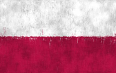 Slavic Digital Art - Flag Of Poland by World Art Prints And Designs