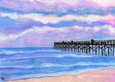 Roz Barron Abellera Painting - Flagler Beach Pier by Roz Abellera Art