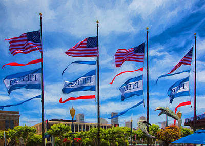Flag Photograph - Flags At Pier 39 by John Bailey